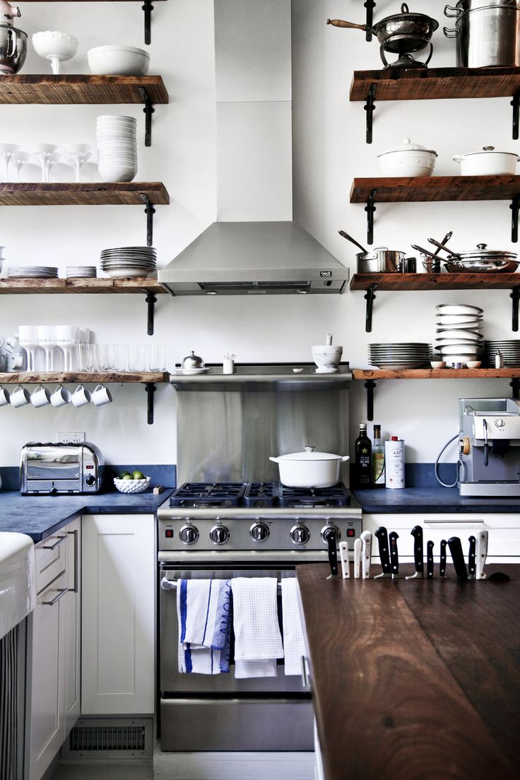Interior envy open kitchen shelves pardon my french Open shelving